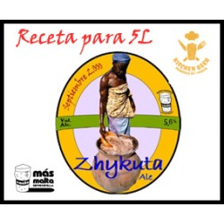 Kitchen-Beer Receta ZHYKUTA- CASCADE Pale Ale (molido) 5L