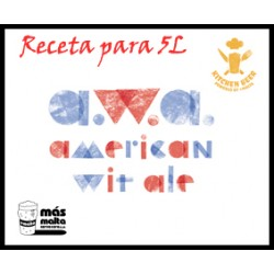 Kitchen-Beer Receta AWA Americacn Wheat Ale (molido) 5L + botella