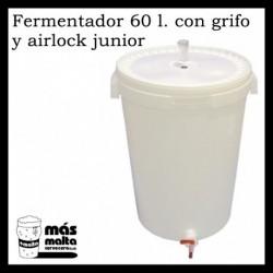 Cubo Fermentador 60 litros con grifo + Airlock junior