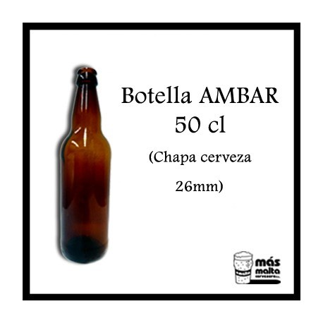 Caja de 12 Botellas Ambar 500ml -uso aliment-