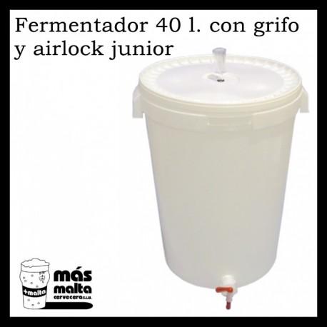 Cubo Fermentador 40 litros con grifo + Airlock junior