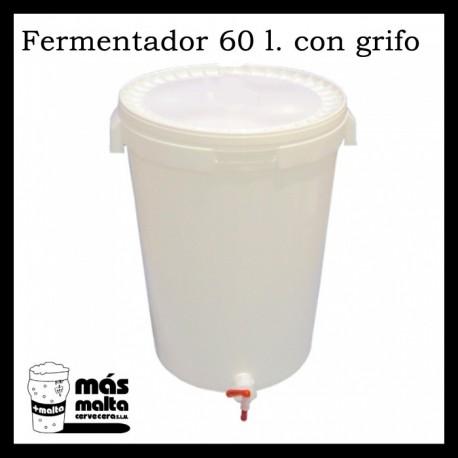 Cubo Fermentador 60 litros con grifo