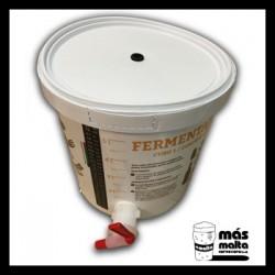 Cubo 1 FERMENTADOR (6L) con grifo, termómetro y agujero en la tapa.