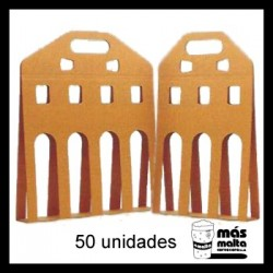 50 unid. Pack LINEAL cartón KRAFT ANÓNIMO
