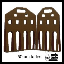 50 unid. Pack LINEAL cartón negro ANÓNIMO