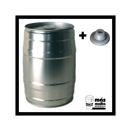 Lata para cerveza 5 litros + tapón reutilizable