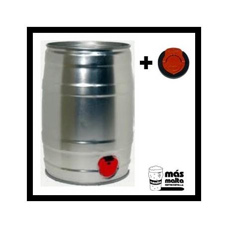 Lata para cerveza 5 litros con GRIFO + tapon