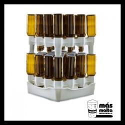 Escurridero 50 botellas compacto con bandeja