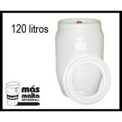 Dpto. Fermentador plastc.120L (tapa hermética, airlock y grifo)