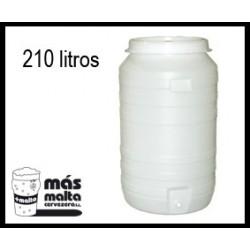 Fermentador plastc.210L (tapa hermética, airlock y grifo)