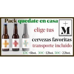 Pack 6 cervezas QUEDATE en CASA