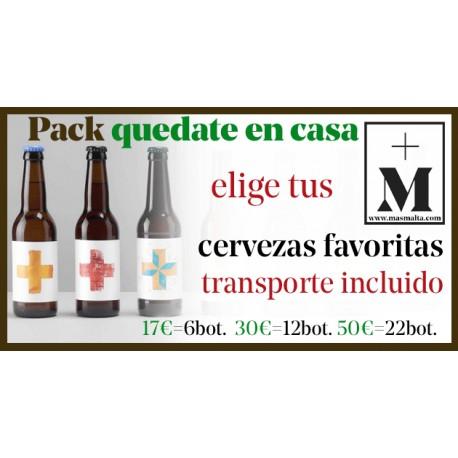 Pack 12 cervezas QUEDATE en CASA