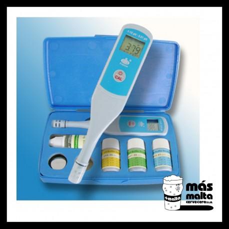 pH-metro precisión con Termómetro impermeable