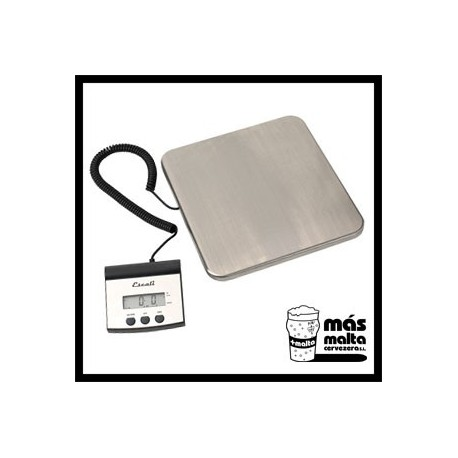 Balanza digital 100kg/50g, Inox 30x30cm