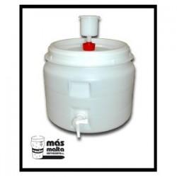 Fermentador plastc. 60L (tapa hermética, airlock y grifo)
