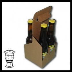 Cesta cartón para 4 bot 33cl ANÓNIMO (vacía)