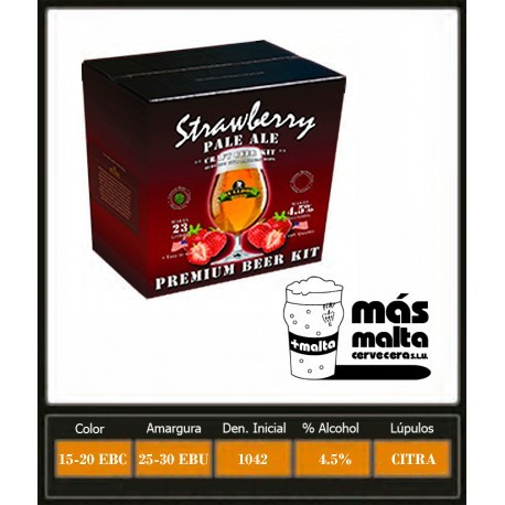 Strawberry Pale Ale 3,1Kg (23L)