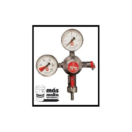 Regulador CO2 con manómetro