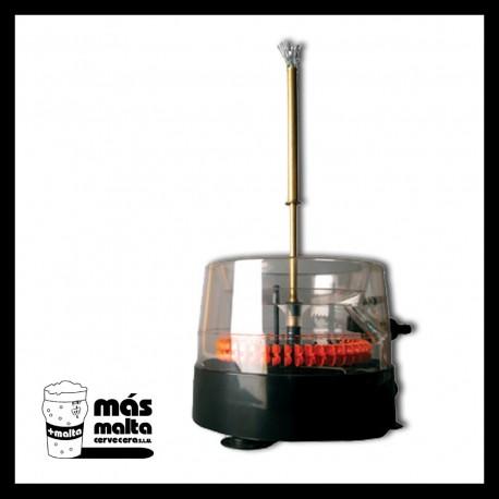 Lavabotellas a presión con cepillo giratorio