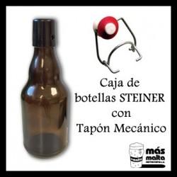 Caja de Botellas STEINER Brown + Tapón