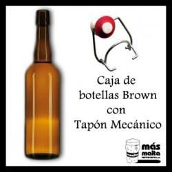 Caja Botellas BROWN 50cl + Tapón