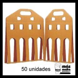 50 unid. Pack LINEAL cartón KRAFT ANÓNIMO