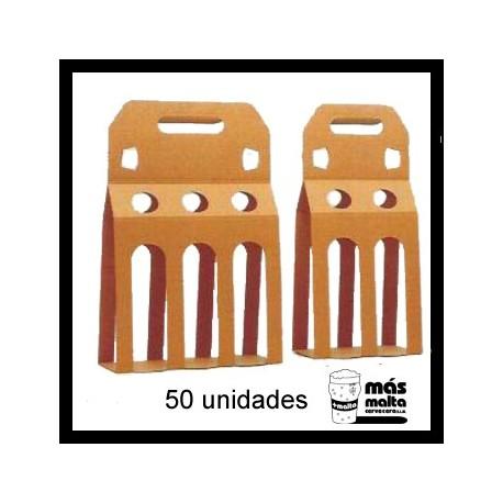 50 unid. Pack DOBLE plus cartón KRAFT ANÓNIMO