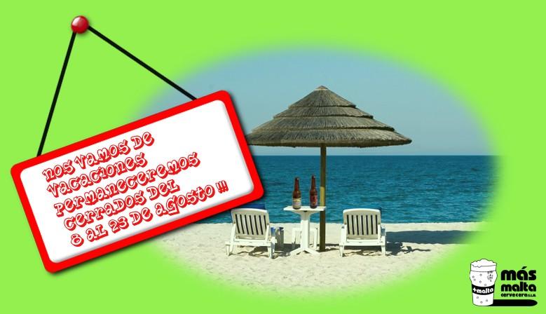 Cerrado por vacaciones del 8 al 23